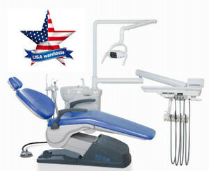 usa Shipping computer Controlled Dental Chair Unit A1 M4 Sky Blue Hard Leather