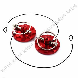 Red Billet Aluminum Racing Hood Pins Appearance Kit Fits Charger Challenger