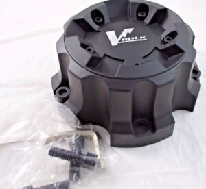 V Rock Black Custom Wheel Center Cap vr1 with Bolts And Wrench for 1 Cap