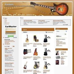 Established Online New Guitars Store Business Website For Sale Free Domain Name