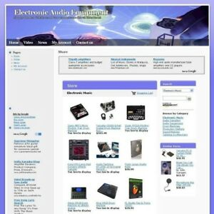 Electronic Online Audio Equipment Business Website For Sale Free Domain Name
