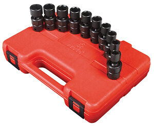 Sunex Tools 3657 10 Piece 3 8 Drive Swivel Impact Socket Set 10 19mm
