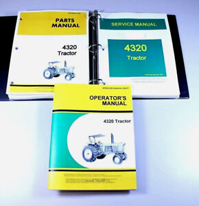 Service Operators Parts Manual Set For John Deere 4320 Tractor Repair Book Ovhl