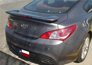 Fits Hyundai Genesis Coupe 2010 2013 Bolt on Rear Trunk Spoiler Painted p