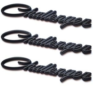3 2008 2018 Classic Script Fits Dodge Challenger Fender Blackout Emblems Badges
