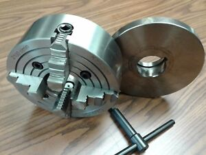8 4 jaw Lathe Chuck W Independent Jaws W L00 Adapter Semi finish 0804f0 new