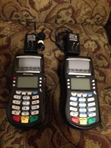 2 two Hypercom Optimum Credit Card Processing Terminals 4220