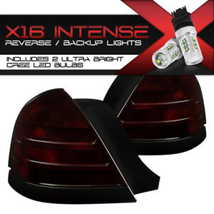 Cree Led Backup 2 Bulb Model 98 11 Ford Crown Victoria red Smoke Tail Lights