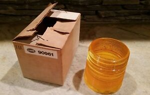 Nos Hella Amber Emergency Light Lens 5 1 2 Dia Vtg Fits Revolving Or Strobe