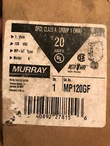 Mp120gf Murray 20 Amp 125v Single Pole Gfi Breaker