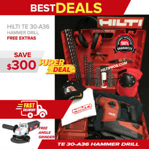 Hilti Te 30 a36 Atc Cordless Combihammer New Free Grinder Extras Fast Ship