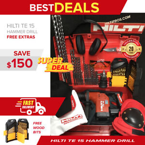 Hilti Te 15 Hammer Drill Display Free Bits A Lot Of Extras Quick Ship