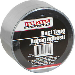 Tool Bench Hardware Silver Duct Tape 1 89 X 10 yd Rolls case Of 24