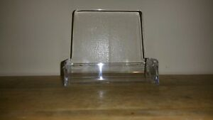 Lot 50 Clear Plastic Business Card Holder Display Counter 5 Brochure Holders