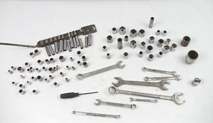Craftsman Tool Lot 95pcs Assorted Sockets Wrenches And A Screwdriver Usa