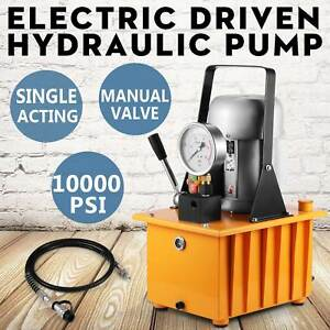 Electric Driven Hydraulic Pump Single Acting Manual Controlled 110v 10000psi