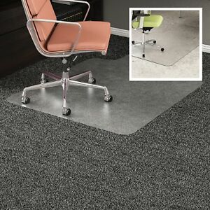 Deflecto Doumat Mat Carpet hard Floor 45 x53 Lip Clear Cm23232duo