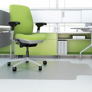 Deflecto Corporation Recycled Chairmat Hard Floor 46 x60 Lip 25 x12 Clear