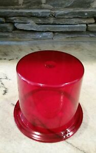 Vintage Bl378 Red Emergency Lens For Revolving Light Police Car Fire Truck