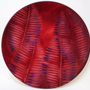 Transparent Enamel Metal Plaque By Edward Winter Made In United States