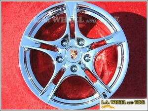 18 One Porsche Boxster Cayman Oem Chrome Wheel Front 2009 2011