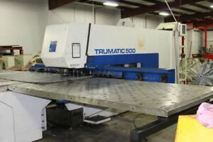 Trumpf Tc500 Cnc Turret Punch 25 Ton Large Profile New 1994 Low Hours