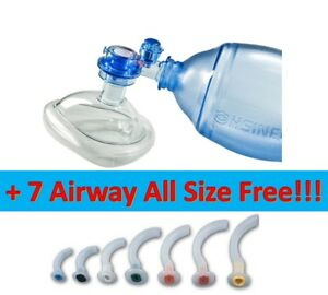 Manual Resuscitator Adult 1800ml Ambu Bag Respiratory 7 Airway Free Medical
