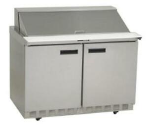 Delfield 4448n 18m 48 Refrigerated Mega Top Salad Prep Table Cooler W 18 Pans