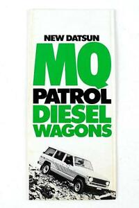Nissan Mq 160 Patrol 1979 6 Page Fold Out Dealers Green Factory Brochure Nos