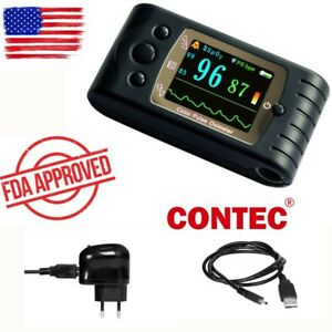 Contec Finger Pulse Oximeter Cms60c blood Oxygen Monitor Adult Probe sw B033