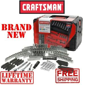 new Craftsman 320pc Piece Mechanics Tool Set W 3 Drawer Case Sae Metric Silver
