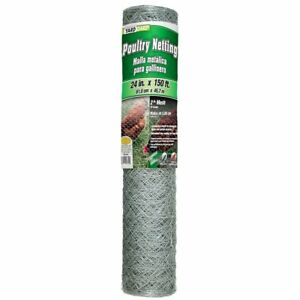 Poultry Netting 2x150ft Chicken Pen Wire Fence Garden Galvanized Mesh Enclosure