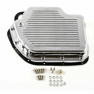 Turbo Th400 Finned Aluminum Transmission Oil Pan Set Polished w bolts Gasket