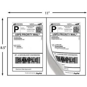 Superior Quality Mailing Shipping Labels 8 5x5 5 Half Sheet Self Adhesive Blank