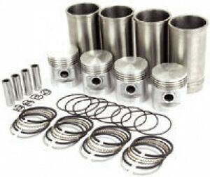 Ford 8n 9n 2n Sleeve Piston Kit For 4 Cylinders 040 Liners