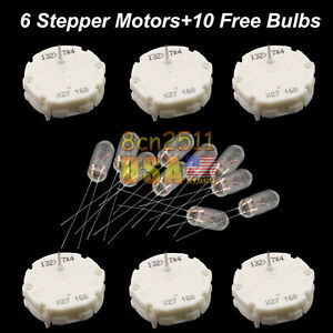 6 Gm Gmc Stepper Motor Speedometer Gauge Repair Kit Instrument Cluster 10 Bulbs