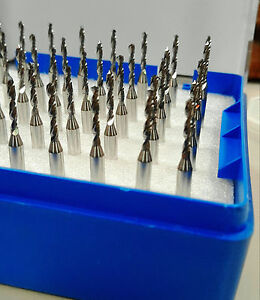 50pcs Carbide Micro Drill Bits 0 95mm Cnc Pcb Dremel 1 8 3 175mm Shank