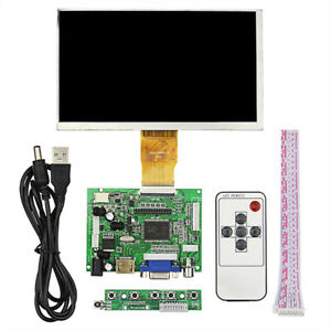 7 Lcd Screen Tft For Raspberry Pi 3 1024 600 Hdmi Vga Drive Board Module