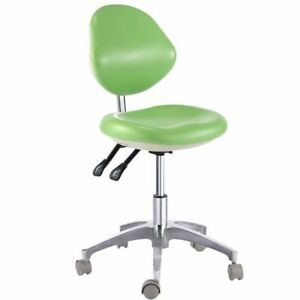 Dental Mobile Stool Medical Surgery Doctor Dentist Chair Stools Pu Leather Green
