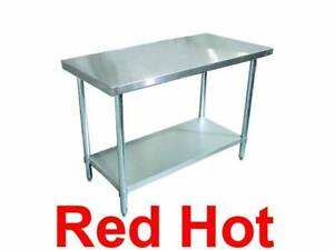 Omcan 22073 Commercial Stainless Steel 30 X 48 Kitchen Work Prep Table