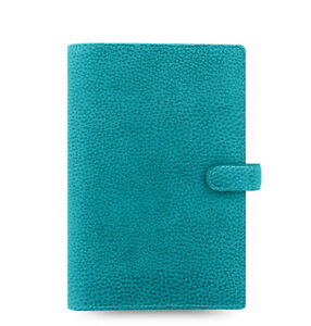 Filofax Personal Size Finsbury Leather Organizer Aqua Leather 025444 2018 Diary