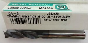 Metal Removal 31804 3 8x3 8x1 1 8x3 3fl Se Carbide End Mill ticn For Alum