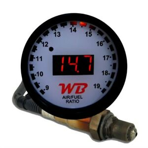 Wb D2 Wideband O2 Air Fuel Ratio Controller Gauge Kit white red