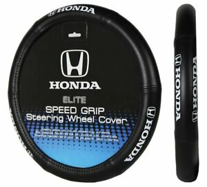 Black Cushion Grip Synth Leather Steering Wheel Cover For Honda Civic Accord 15