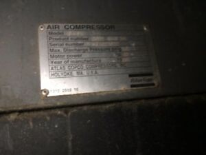 Atlas Copco Rotary Screw Air Compressor Ga45w 60hp Air Compressor