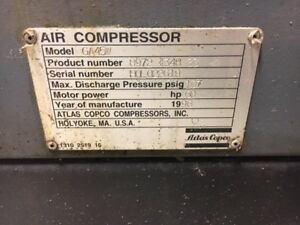 Atlas Copco Compressor Ga45w 60hp Air Compressor