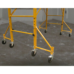 Pro series 18 Inch Scaffolding Outriggers With Casters 4 Piece Set