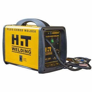 Hit 125 Amp Flux cored 120v Welder Includes 6 Ft Mig Torch 6 5 Ft Ground