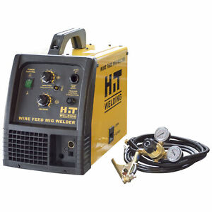 Hit 140 Amp Mig 120v Welder Includes Gas Hose Regulator 10 Ft Tweco Type M