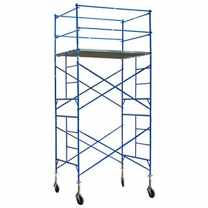 Buffalo Tools Two Story Rolling Exterior Scaffold Tower 16 Feet Tall